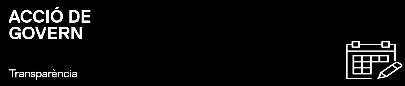 TRANSPARÈNCIA - Acords Junta de Govern