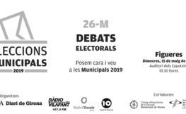 Eleccions Municipals 2019. Debat amb les candidatures de Figueres