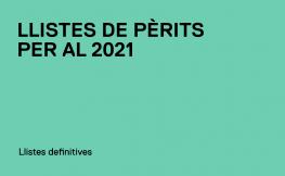 Publicades les Llistes de Pèrits definitives per al 2021