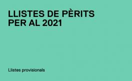 Publicades les Llistes de Pèrits provisionals del 2021