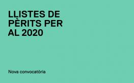 Llistes de Pèrits per al 2020
