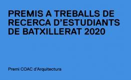 Premi COAC d'Arquitectura a estudiants de batxillerat