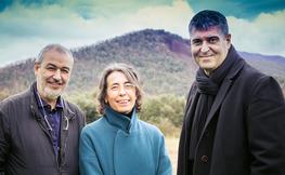 Ramón Vilalta, Carme Pigem i Rafael Aranda.