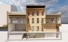 Maqueta d'edifici modern