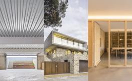 Collage tres edificis moderns.