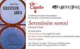 """Presentació del llibre """"Sereníssim somni"""""""