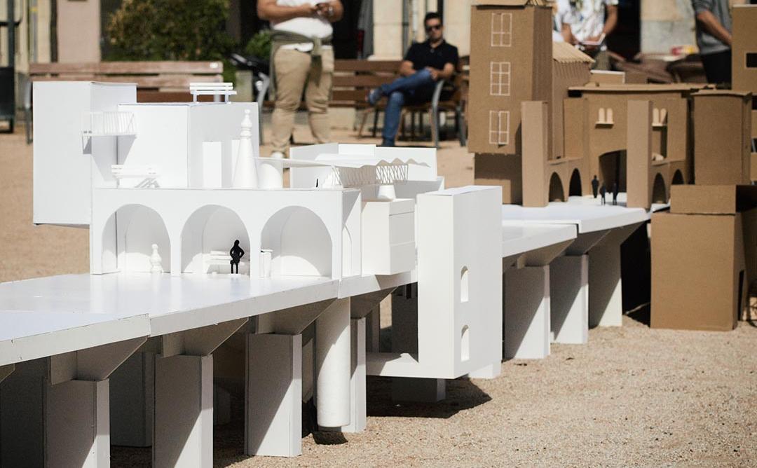 Maqueta d'un projecte de ciutat