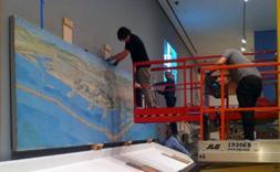 El diorama del Pla Macià viatja de l'Arxiu del COAC al MoMA
