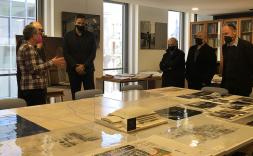 Iñaqui Carnicero al arxiu històric