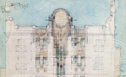 Alçat de la façana del projecte de reforma d'un edifici d'habitatges per a Lluís Batlle.