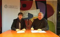 La Demarcació de Girona i Brancós Ceramics treballaran conjuntament en la promoció de l'arquitectura i la formació continuada