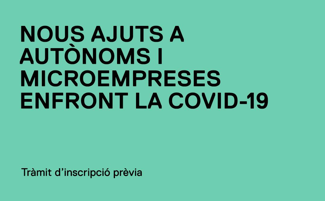 La Generalitat obre un tràmit d'inscripció prèvia per a la nova convocatòria d'ajuts a autònoms