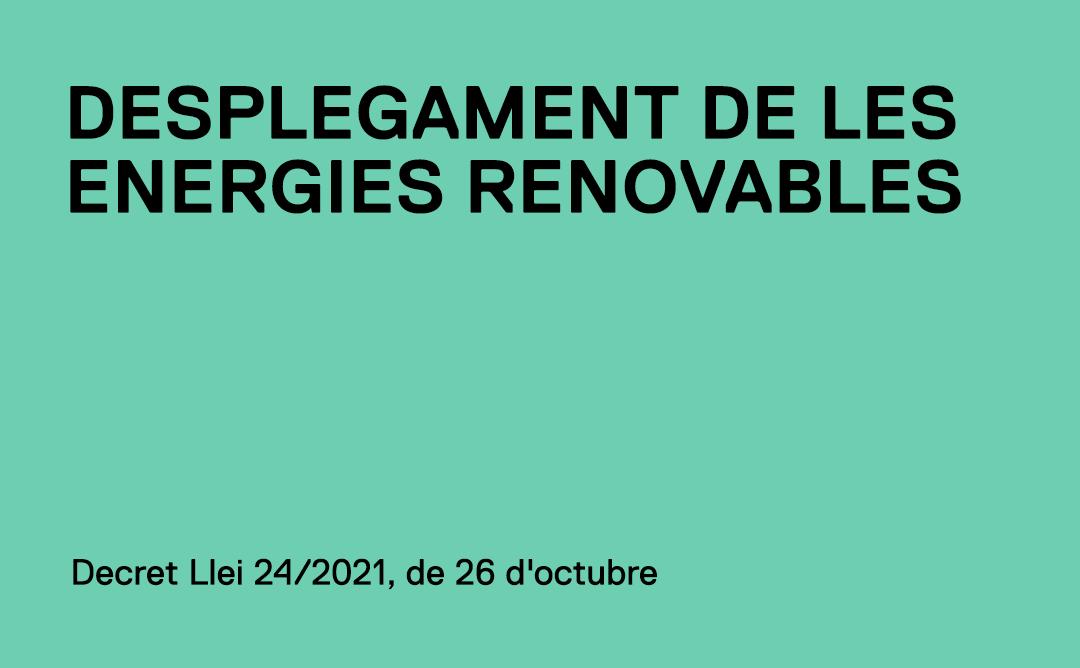 El Govern aprova la modificació del decret d'energies renovables